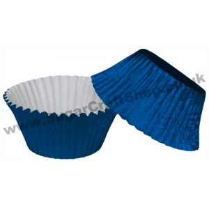 Muffin Cupcake Cases Foil 50 - Royal Blue