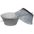 Muffin Cases Foil 50 -  Silver
