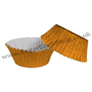 Fairy Cake Cases Foil 50 -  Orange