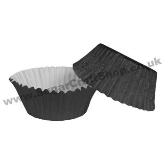 Fairy Cake Cases Foil 50 -  Black