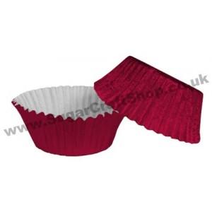 Fairy Cake Cases Foil 50 -  Burgundy