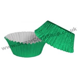 Fairy Cake Cases Foil 50 -  Green