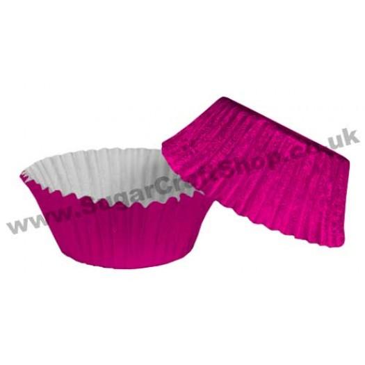 Fairy Cake Cases Foil 50 -  Cerise