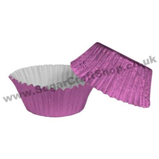 Fairy Cake Cases Foil 50 -  Mauve