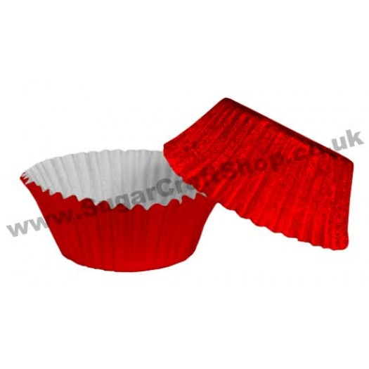 Fairy Cake Cases Foil 50 -  Red
