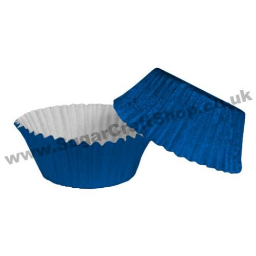 Fairy Cake Cases Foil 50 -  Royal Blue