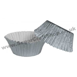 Fairy Cake Cases Foil 50 -  Silver