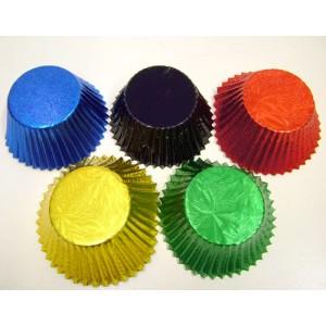 Muffin Cupcake Cases Foil 50 -  Multi