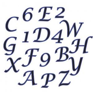 Script Alphabet and Number Cutter Set Upper Case - FMM