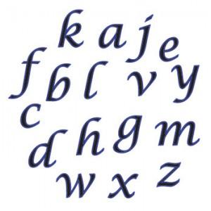 Script Alphabet Cutter Set Lower Case - FMM