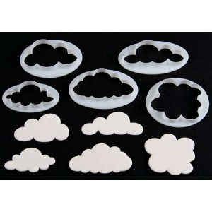 Fluffy Cloud Cutters Set of 5 FMM