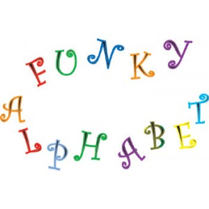 Funky Alphabet and Number Cutter Set Upper Case - FMM