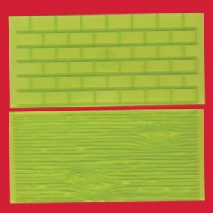 Impression Mats Set 1 Tree Bark and Brick Wall - FMM