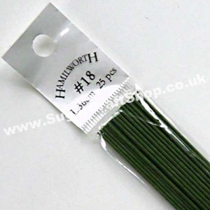 Wire Green 18 Gauge - 25 piece