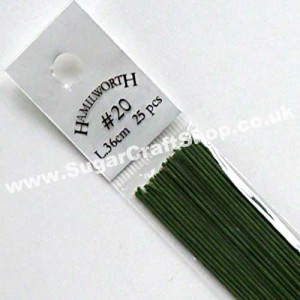 Wire Green 20 Gauge - 25 piece