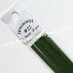 Wire Green 22 Gauge - 25 piece