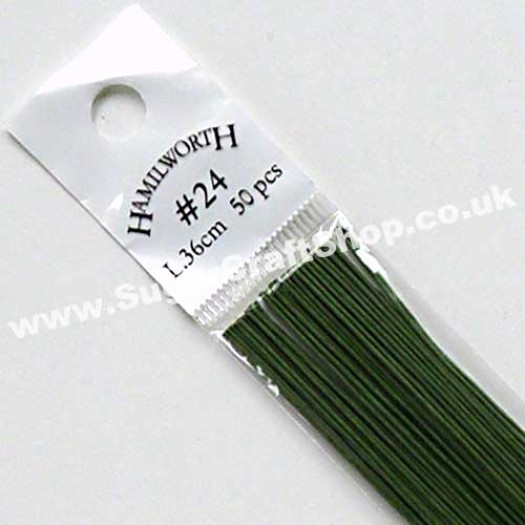Wire Green 24 Gauge - 50 piece