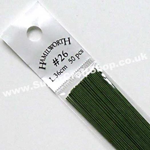 Wire Green 26 Gauge - 50 piece