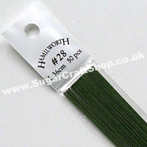 Wire Green 28 Gauge - 50 piece