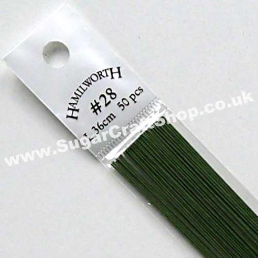 Wire Green 28 Gauge - 50 piece