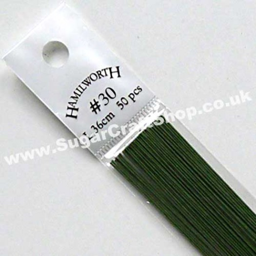 Wire Green 30 Gauge - 50 piece