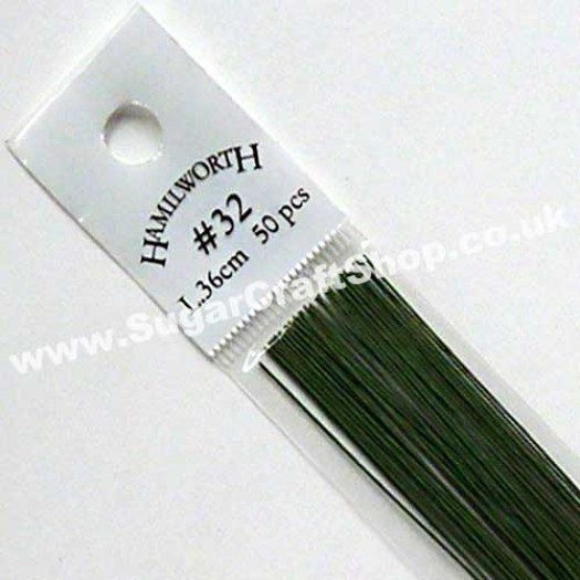 Wire Green 32 Gauge - 50 piece