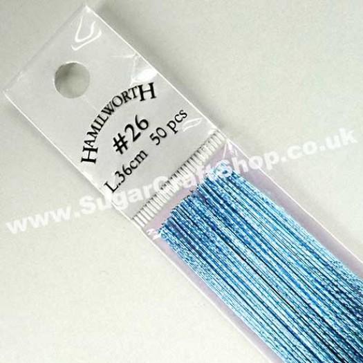 Wire Metallic Baby Blue 24  Gauge - 50 piece