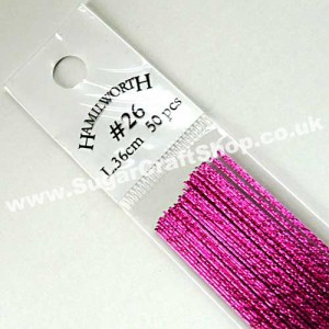 Wire Metallic Hot Pink 26 Gauge - 50 piece