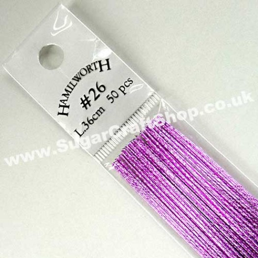 Wire Metallic Mauve 26 Gauge - 50 piece