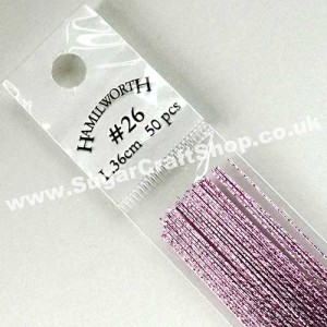 Wire Metallic Pink 24 Gauge - 50 piece