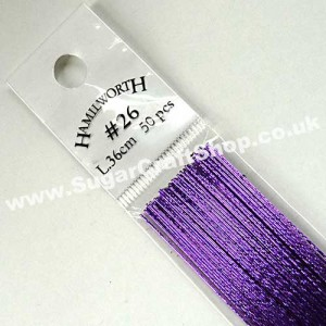 Wire Metallic Purple 24 Gauge - 50 piece