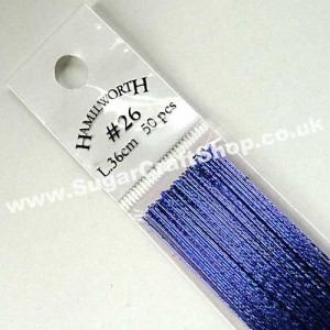 Wire Metallic Royal Blue 24 Gauge - 50 piece