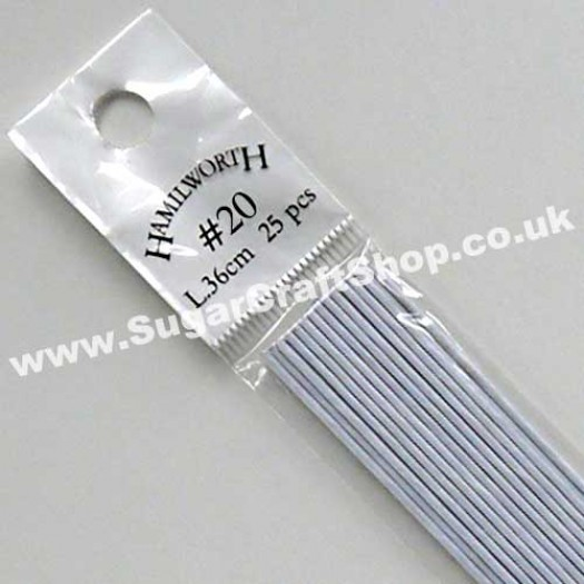 Wire White 20 Gauge - 25 piece