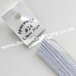 Wire White 24 Gauge - 50 piece