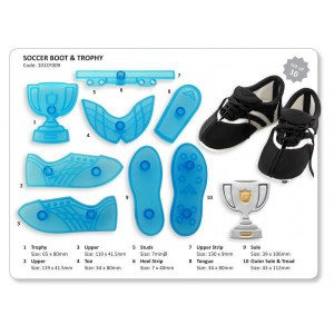 Soccer Boot and Trophy Cutter Set of 8