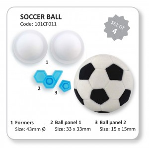 3-D Soccer Ball Cutter Set of 4