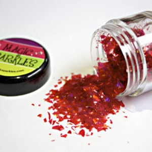 Magic Sparkles Glitter Flakes - Garnet Red