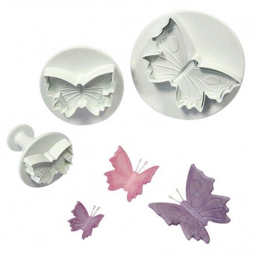 Veined Butterfly Plunger Cutter (Set of 3)
