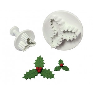 PME 3-Leaf Holly Plunger Cutter (Set of 2) HS636