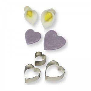 Heart/Arum Lily Cutter Set of 3 (19mm, 25mm, 30mm)
