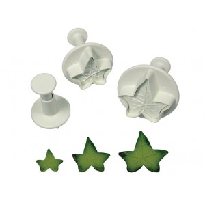 Veined Ivy Leaf Plunger Cutter (Set of 3)