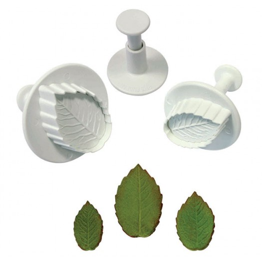 Veined Rose Leaf Plunger Cutter - Medium