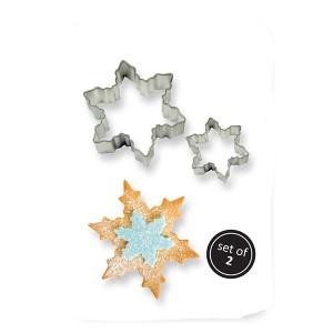 Metal Cookie Cutters Set x2 Snowflake
