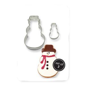 Metal Cookie Cutters Set x2 Snowman