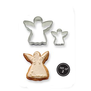 Metal Cookie Cutters Set x2 Angel