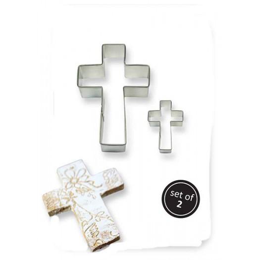 Metal Cookie Cutters Set x2 Cross