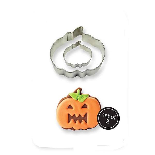 Metal Cookie Cutters Set x2 Pumpkin