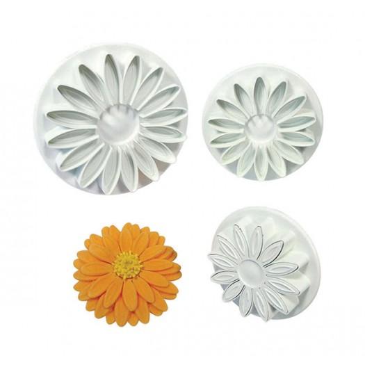 Veined Sunflower, Gerbera and Daisy Plunger Cutter Set of 3