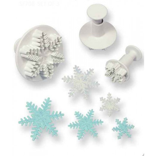 Snowflake Plunger Cutter Set of 3 (25mm, 40mm, 55mm)