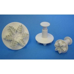 Snowflake Plunger Cutter Set of 3 (25mm, 40mm, 55mm) - PME SF708